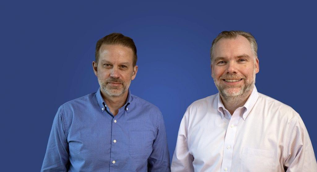 Kerecis CFO Mike Cadigan (L) and CEO G. Fertram Sigurjonsson