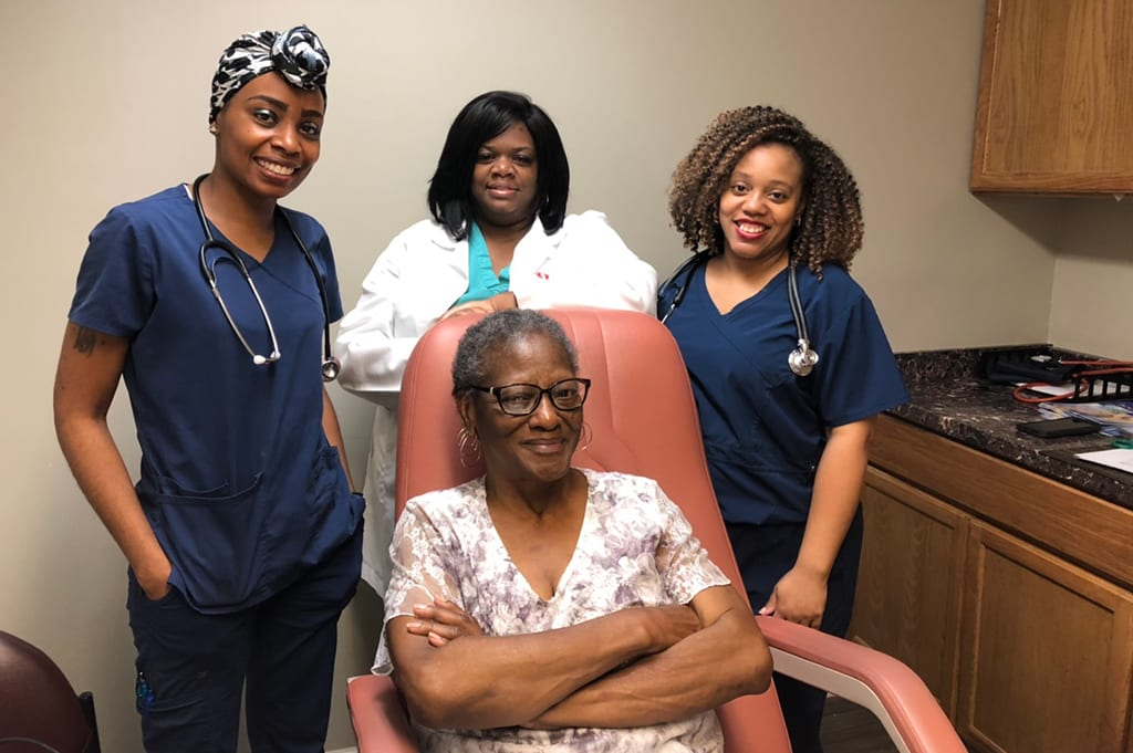 Dr. Blackwell and her nurses