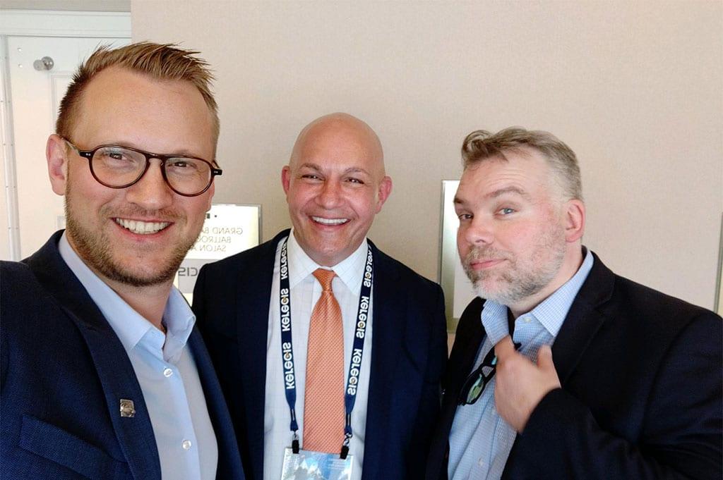 Dr. Gunnar Johannesson, Dr. Michael J. Lacqua and G. Fertram Sigurjonsson, CEO of Kerecis